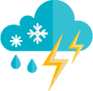 Icon showing inclement weather