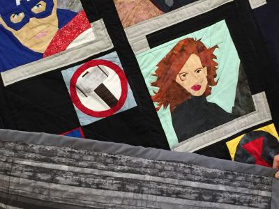 Photo showing quilt backing